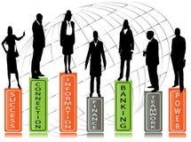 Recomendação do negócio, executivos Ilustração Royalty Free