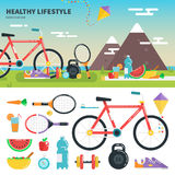 Recomendações para o estilo de vida saudável Imagem de Stock Royalty Free