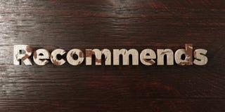 Recommande - titre en bois sale sur l'érable - l'image courante gratuite de redevance rendue par 3D illustration stock