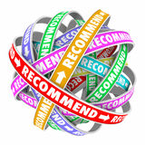 Recommend Connected Feedback Loop Endorse Business Products Stock Photo