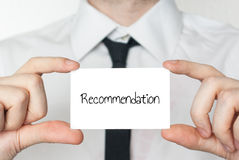 Recommendation letter held in hand Royalty Free Stock Image