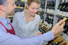 Recommendation from wine expert Stock Photos