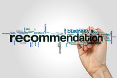 Recommendation word cloud Royalty Free Stock Photo