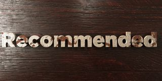 Recommended - grungy wooden headline on Maple - 3D rendered royalty free stock image. This image can be used for an online website banner ad or a print vector illustration