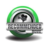 Recommended movie. Abstract colorful background with green sign on which is written the text recommended movie Stock Photo