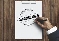 Recommended Offer Refer Satisfaction Suggestion Concept Royalty Free Stock Images