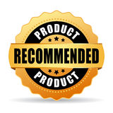 Recommended product gold vector icon Royalty Free Stock Images