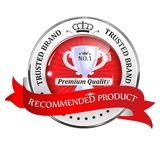 Recommended product, Premium Quality - luxurious icon Stock Illustration