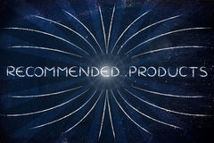 Recommended Products (retro rays illustration) Royalty Free Stock Image