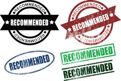 Recommended Rubber Stamps (Vector) Royalty Free Stock Photography