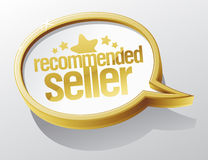 Recommended seller speech bubble. Royalty Free Stock Images