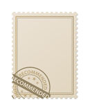 Recommended stamp. On postage illustration Stock Photos