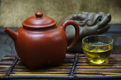 Are recommended and tea set Stock Images