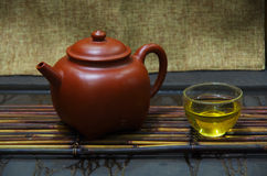 Are recommended and tea set Stock Photography
