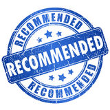 Recommended vector stamp Royalty Free Stock Photography