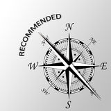 Recommended word written aside compass. Illustration of Recommended word written aside compass Royalty Free Stock Photos