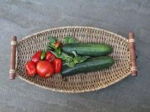 Recompensa do verão - legumes frescos imagens de stock