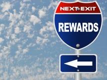 Recompensa o sinal de estrada fotografia de stock royalty free