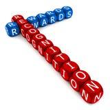 Recompensas y reconocimiento stock de ilustración