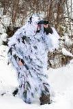 Recon no uniforme do inverno Foto de Stock Royalty Free