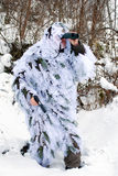 Recon in winter uniform Royalty Free Stock Photo