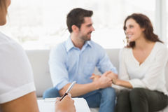 Reconciled couple smiling at each other Royalty Free Stock Image