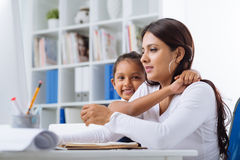 Reconciliation of family and work life Stock Photography