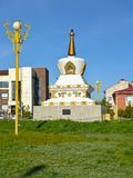 Reconciliation mortar at O.I. Gorodovikov Square. Elista, Kalmykia.  royalty free stock photo