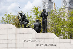 Reconciliation: The Peacekeeping Monument - Ottawa - Canada. Reconciliation: The Peacekeeping Monument in Ottawa - Canada Royalty Free Stock Photo