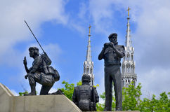 Reconciliation the Peacekeeping Monument. OTTAWA CANADA JUNE 30; Reconciliation the Peacekeeping Monument is a monument in Ottawa, the capital of Canada Stock Images