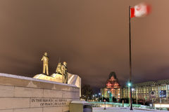 Reconciliation: The Peacekeeping Monument - Ottawa - Canada. Reconciliation: The Peacekeeping Monument in Ottawa, Canada at night Royalty Free Stock Photo