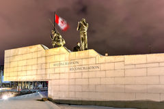 Reconciliation: The Peacekeeping Monument - Ottawa - Canada. Reconciliation: The Peacekeeping Monument in Ottawa, Canada at night Royalty Free Stock Photography