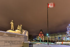 Reconciliation: The Peacekeeping Monument - Ottawa - Canada. Reconciliation: The Peacekeeping Monument in Ottawa, Canada at night Stock Photography