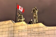 Reconciliation: The Peacekeeping Monument - Ottawa - Canada. Reconciliation: The Peacekeeping Monument in Ottawa, Canada at night royalty free stock image