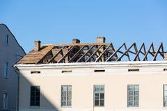 Reconctruction de toit image stock
