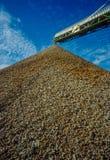 Piling up pestled debris royalty free stock image