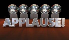 Reconhecimento grande Job Awards da admiração do aplauso ilustração stock