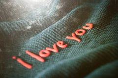 Reconnaissance d'expression dans l'amour des lettres décoratives Image stock