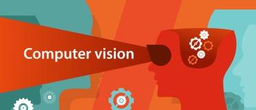 Reconnaissance d'image numérique d'illustration de technologie de vision d'ordinateur Photo stock