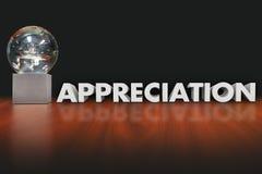 Reconnaissance professionnelle des employés de trophée de récompense de Word d'appréciation Image libre de droits
