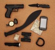 Reconnaissance survey items Stock Image