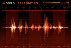 Reconnaissance vocale illustration de vecteur
