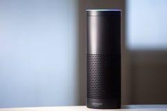 Reconnaissance vocale d'écho d'Amazone image libre de droits
