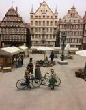 Reconstituez d'une ville médiévale Image libre de droits