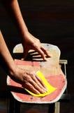 Reconstituez une vieille planche à roulettes Photo stock