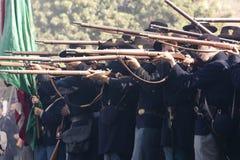 Reconstitution 47 de guerre civile de Moorpark Image stock
