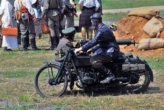 Reconstitution de bataille de Nivelle de hache-viande Photos stock