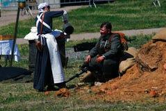 Reconstitution de bataille de Nivelle de hache-viande Photo stock