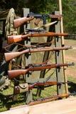 Reconstitution de bataille de WWII Images stock
