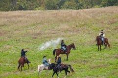 Reconstitution de guerre civile photo libre de droits